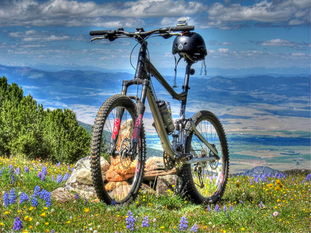 HDR Mountain Bike Photography