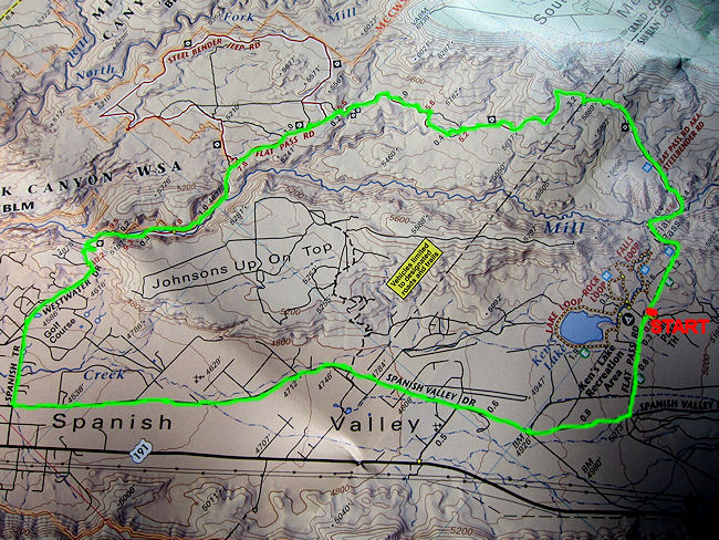Flat Pass Trail Map