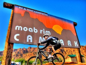 Moab Rim Campark the mountain bikers choice