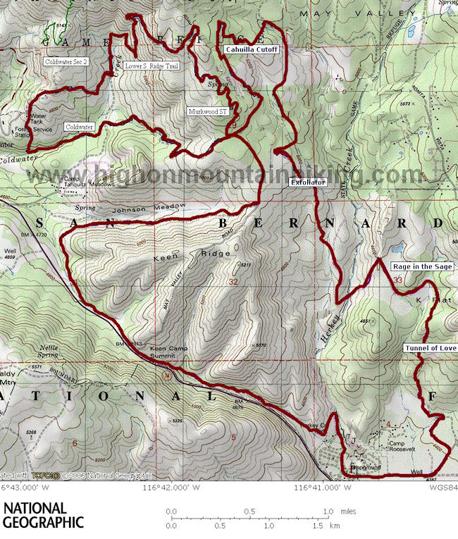 Hurkey Creek Trails Map