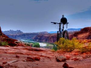 Hidden Valley onto Moab Rim October 2011