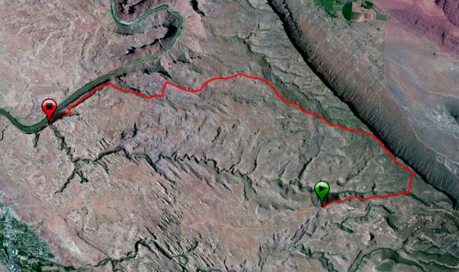 Porcupine Rim Trail Map