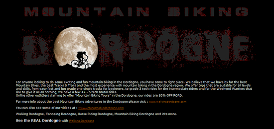 Mountain Biking Dordogne