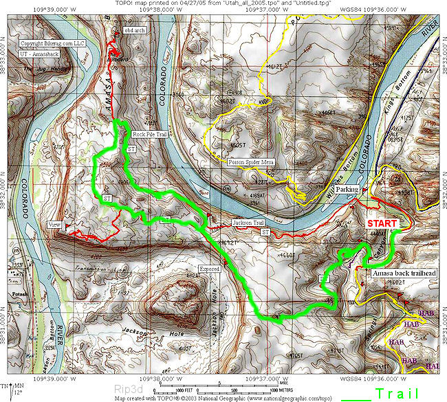 Amasa Back Trail Map