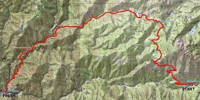 Downieville Classic Trail Map