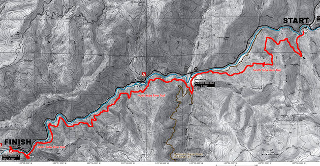 The North Yuba River Trail Map